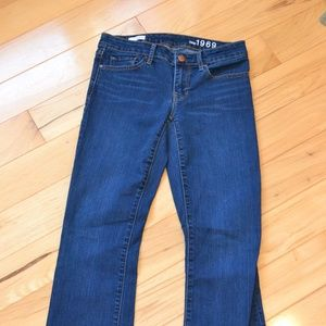 Gap jeans 26 sexy boot women dark wash 26R